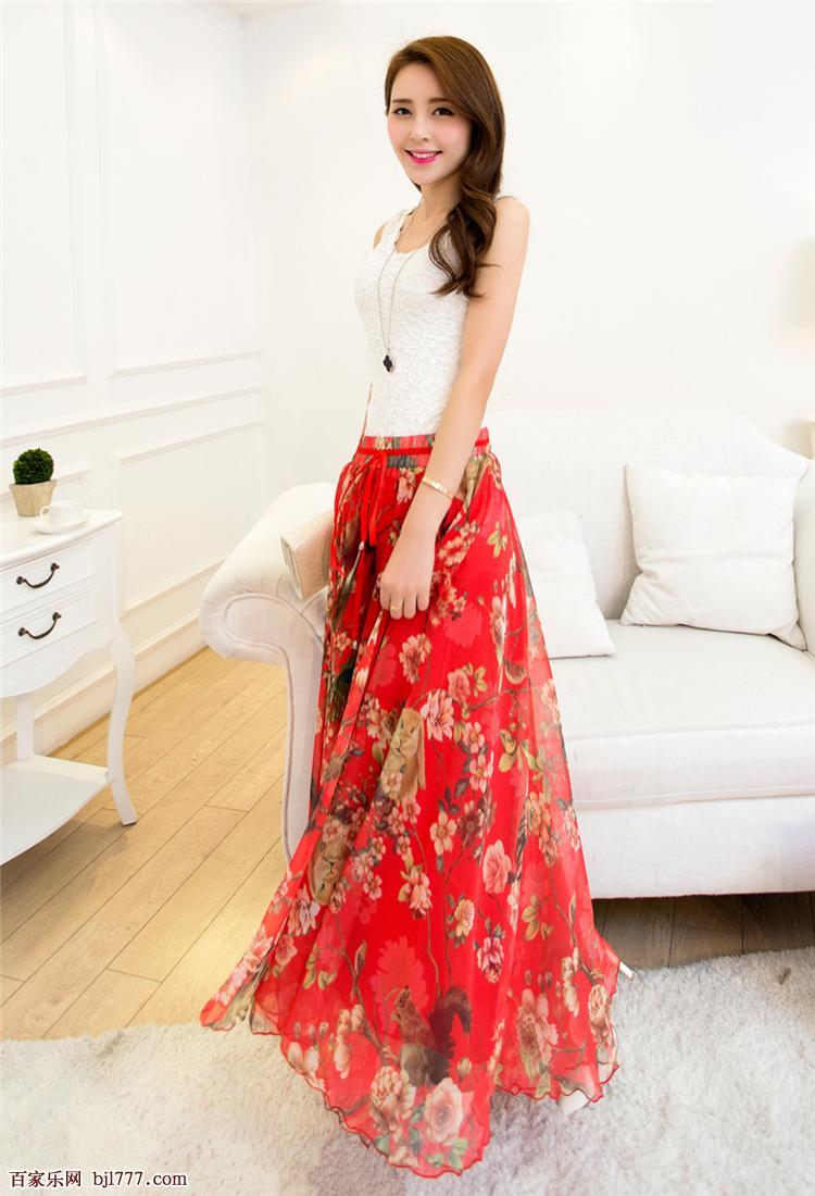 美颜美裙美足系列红裙子飞舞的性感